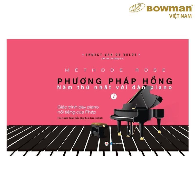 Sách Học Piano Methode Rose - Phương Pháp Hồng Thứ 1