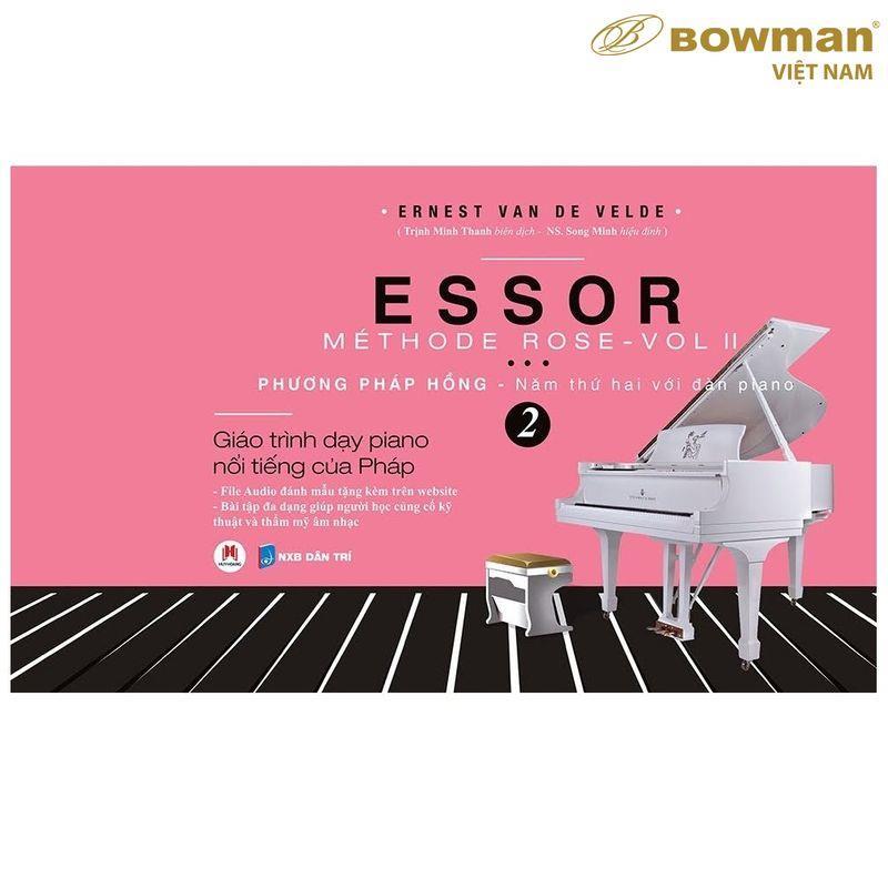 Sách Học Piano Methode Rose - Phương Pháp Hồng Thứ 2 ESSOR